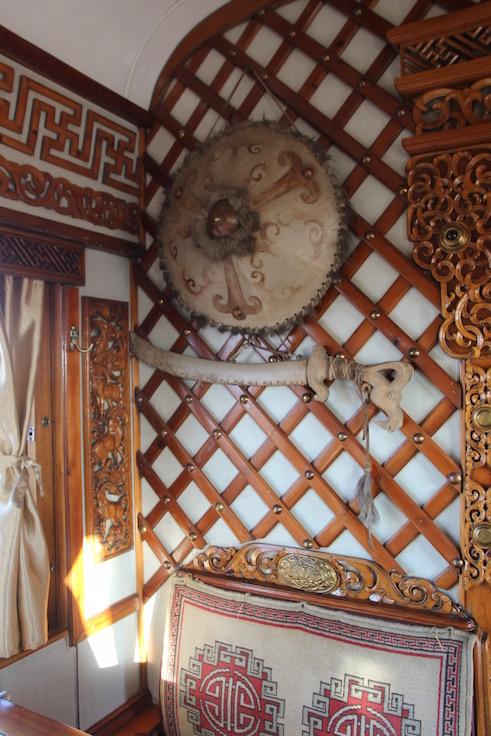 Trans Mongolian dining car
