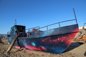 Galaxy on boat, Olkhon Island