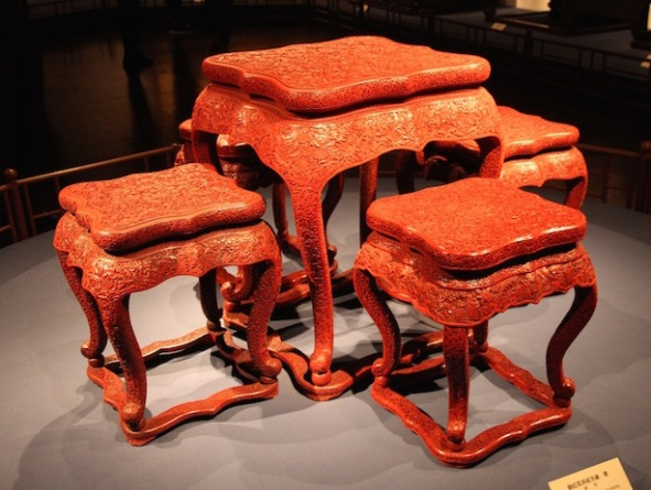 Lacquer table and chairs