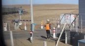 Stopping traffic, Mongolia