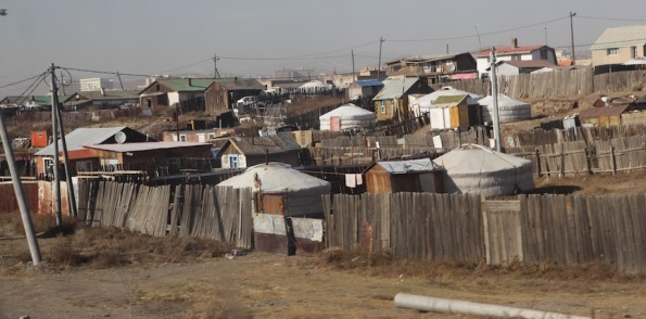 Girs in Ulaanbaatar Mongolia