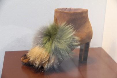 Shoes with fur