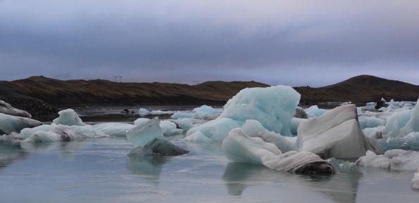 Icebergs in Jökulsárlón lagoon