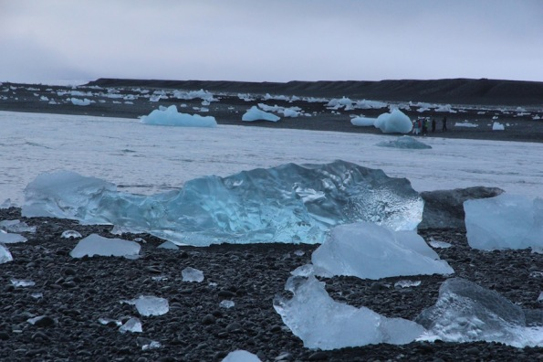 Icebergs on Jökulsárlón lagoon