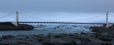 Bridge over channel from Jökulsárlón lagoon