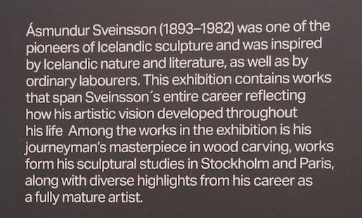 Plaque about Ásmundur Sveinsson