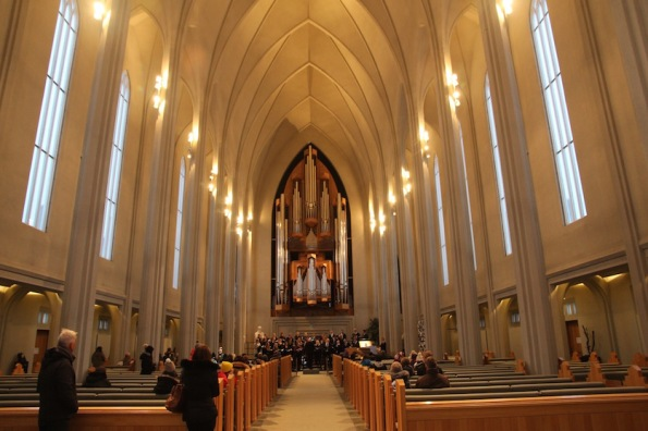 Interior of Hallgrímskirkja church