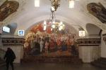 Mural in Kievskaya station, Moscow