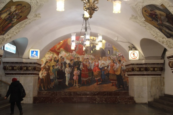 Mural in Kievskaya station, Moscow