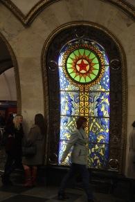 Mosaic at Novoslobodskaya station, Moscow