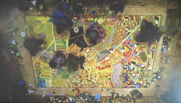 A multimedia clip of the artists working on Yarrakalpa