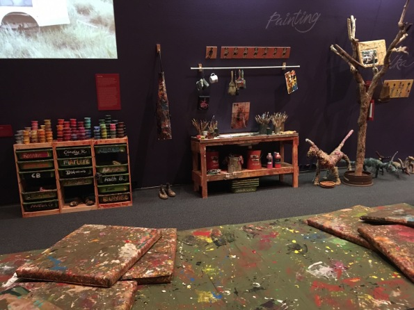 Aboriginal art studio re-creation