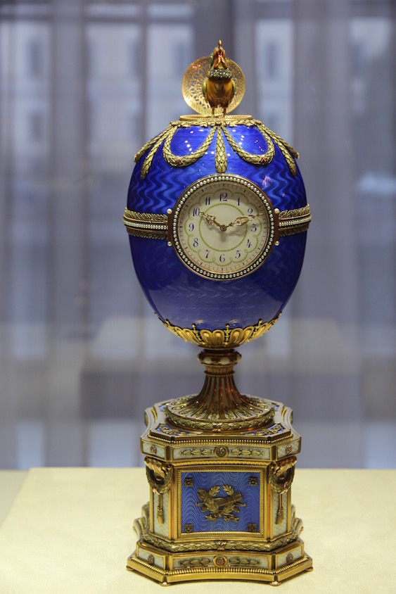 Chanticleer Kelch egg (1904) Fabergé Museum
