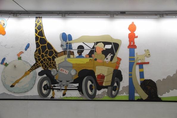 The Adventures of Tintin, Stockel Metro station