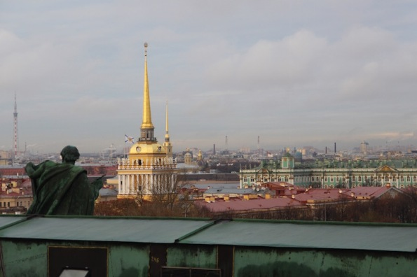The view from St Isaac's Cathedral, St Petersburg