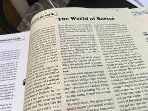 The World of Barter article