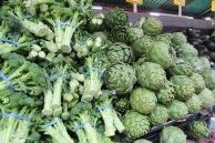 Broccoli and artichokes