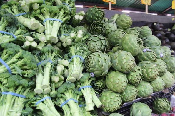 Broccoli and artichokes