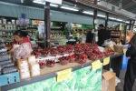 Roadside market, cherries
