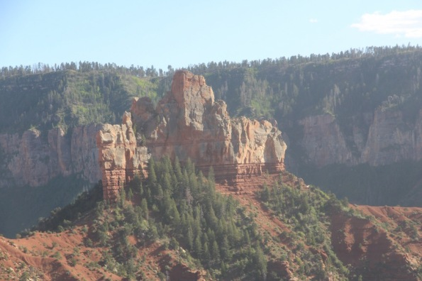 Castle-like formation at Grand Canyon