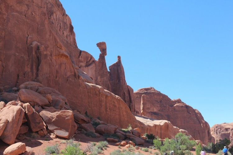 Nefertiti's Head, Park Avenue, Arches National Park
