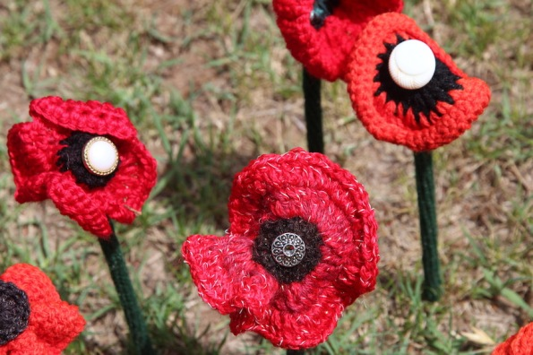 Poppies with buttons