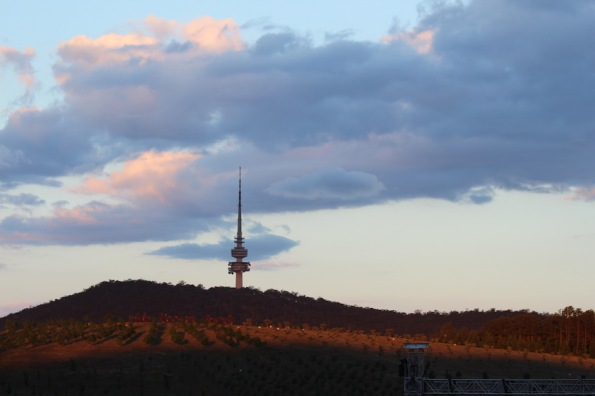 Sunset with Black Mountain Tower, Canberra