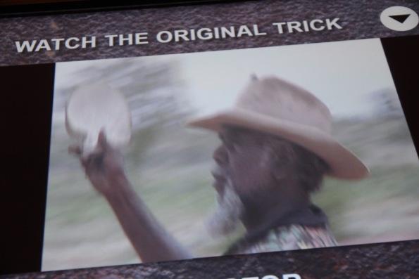 Thomas Jangala Rice does a rainmaking ceremony