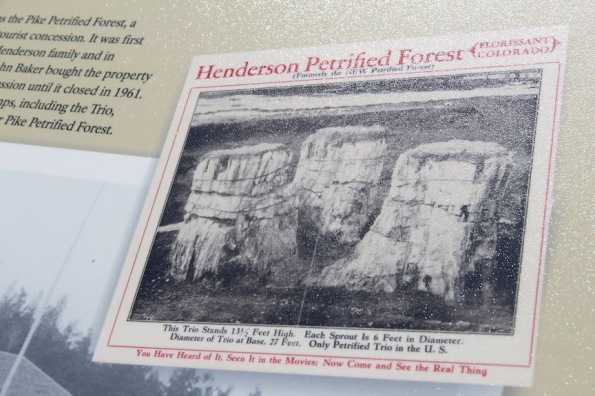 Tourist ad promoting Florissant Fossils Beds