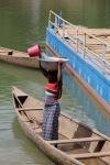 Gathering water for laundry, Ivory Coast