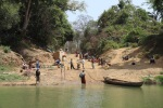 Laundry day at the Comoé River