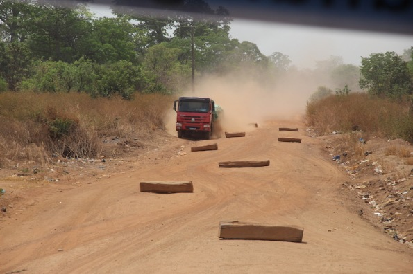 Dirt road in the Ivory Coast