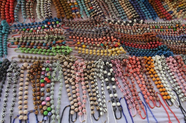 Bead jewellery for sale in West Africa