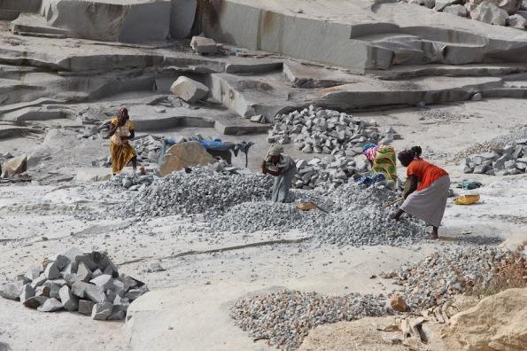 Granite quarry, Korhogo