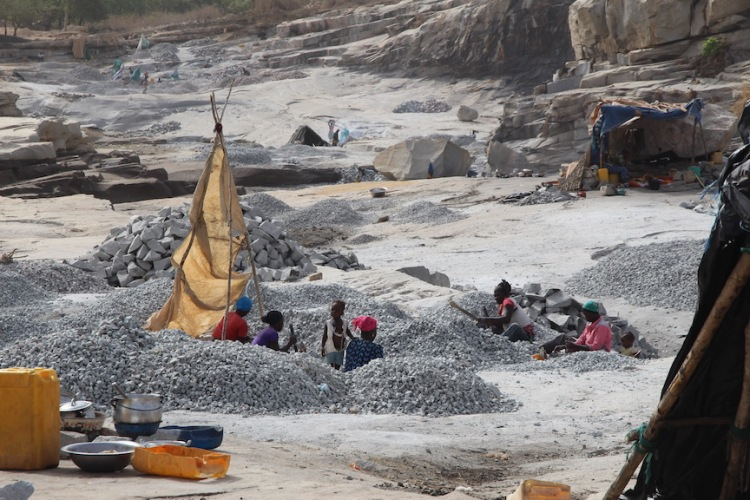 Granite quarry, Ivory Coast