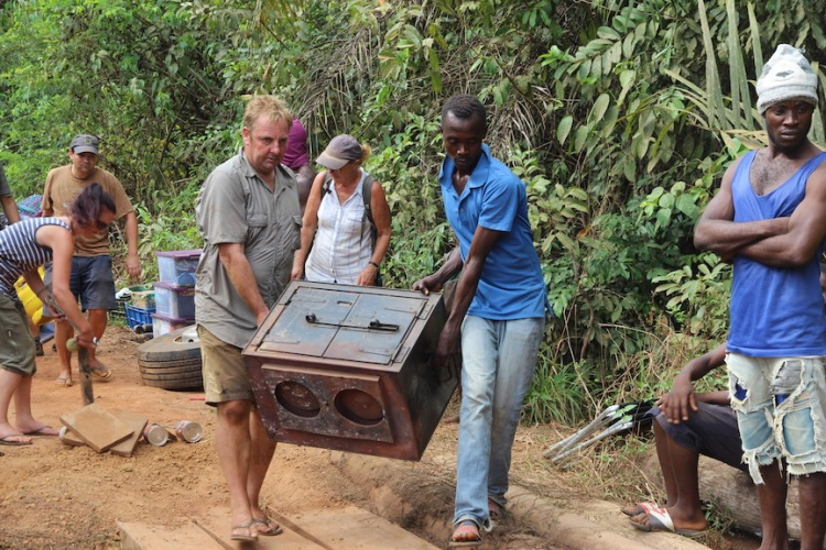 Carrying a camp stove