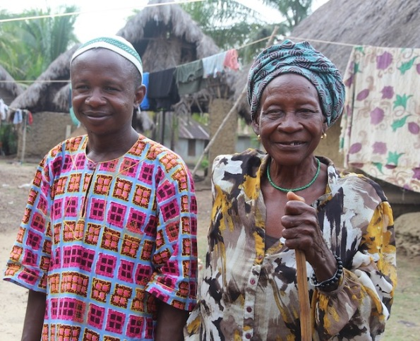 Byama chief and his mother, Sierra Leone