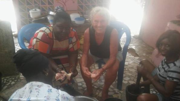 cooking in Senegal