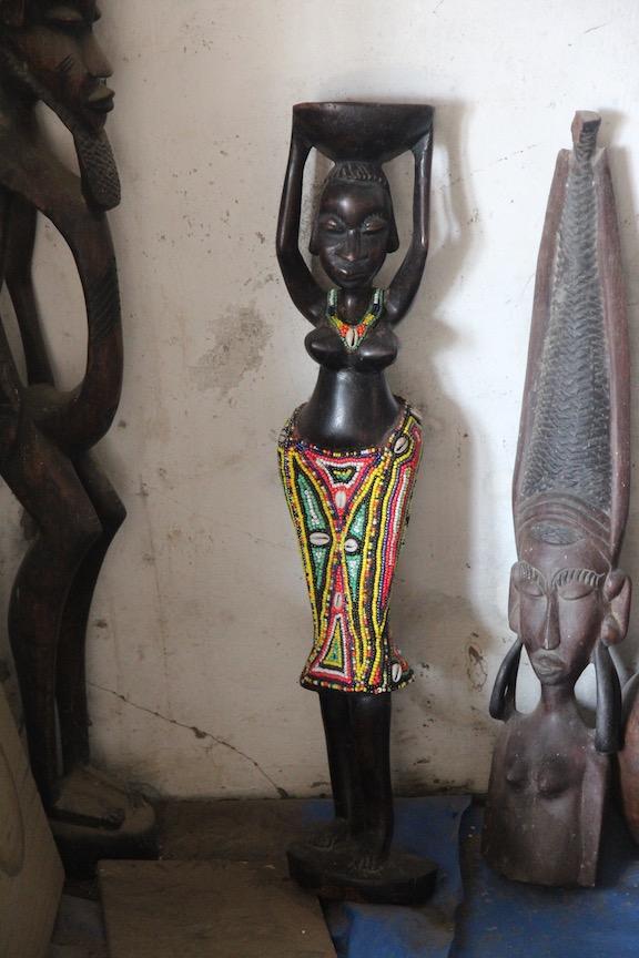 Beaded statue