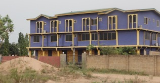 African apartment building