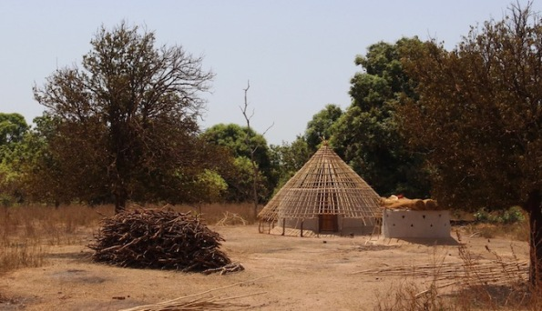 Roof frame in Africa
