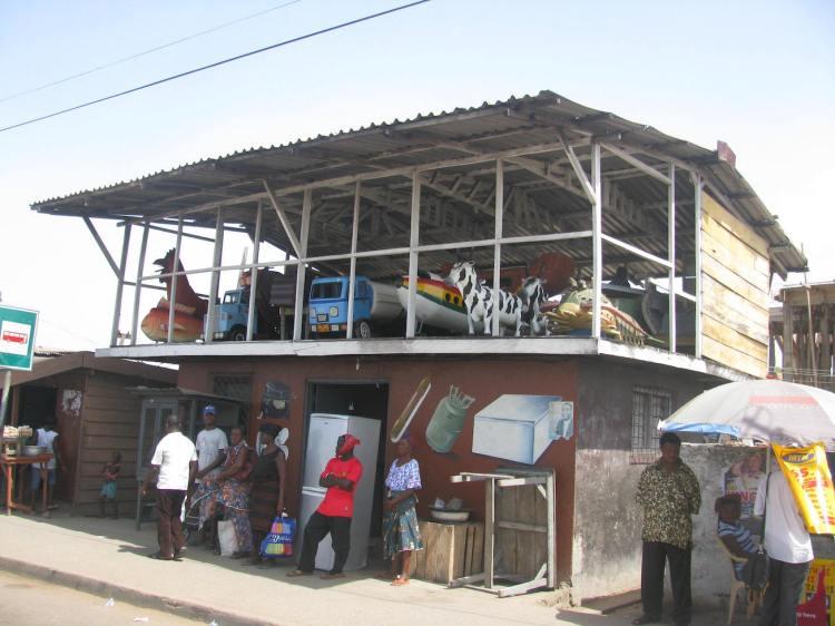 Coffin showroom, Ghana