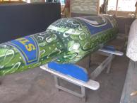 Beer bottle coffin