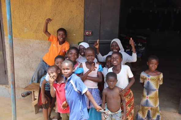 Smiles despite poverty in africa