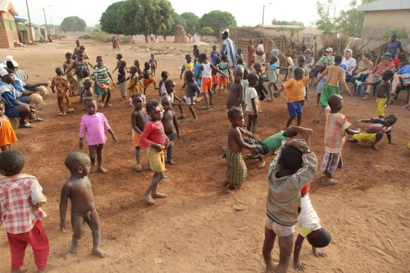 Kids dancing, Ivory Coast