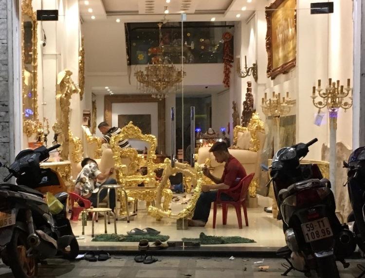 Painting furniture, Ho Chi Minh City, Vietnam