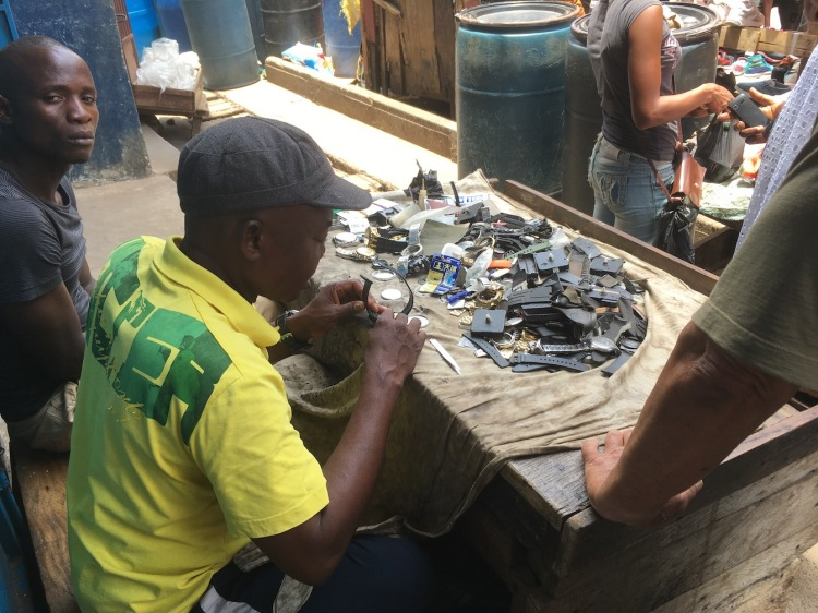 Watch repair, Sierra Leone