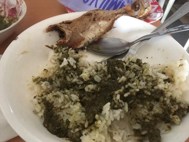 Simple food in Sierra Leone