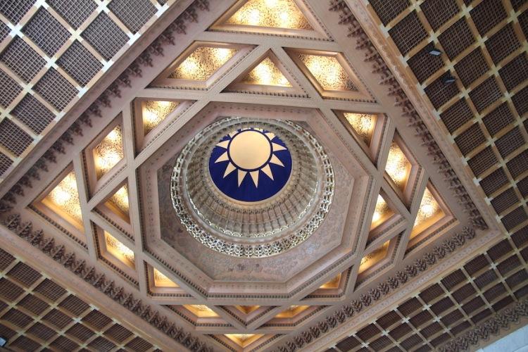 Chiang Kai-Shek Memorial Hall, ceiling