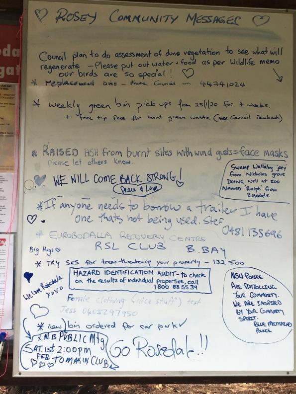 Rosedale notice board